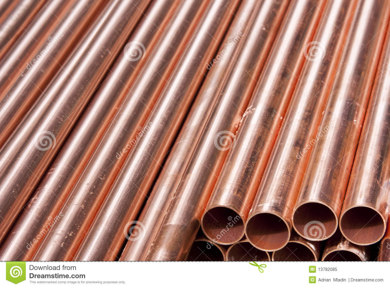 Copper pipes royalty free stock photo image 13782085 for Copper pipes price