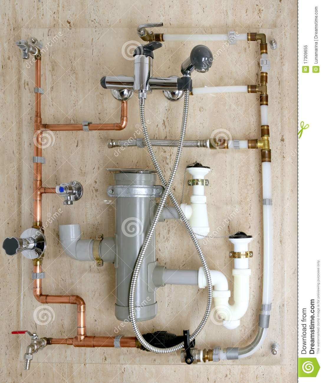 Copper plumbing installation and polyethylene pvc royalty for Plumbing copper to plastic