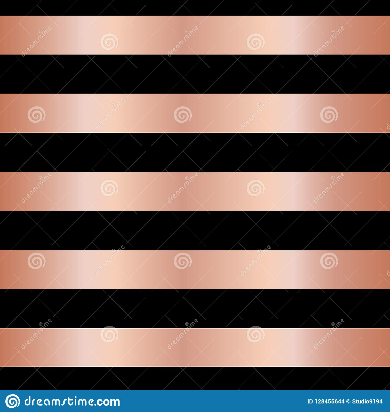 copper rose gold foil stripes on black seamless vector pattern background horizontal metallic shiny lines christmas new year wallpapers scrap booking