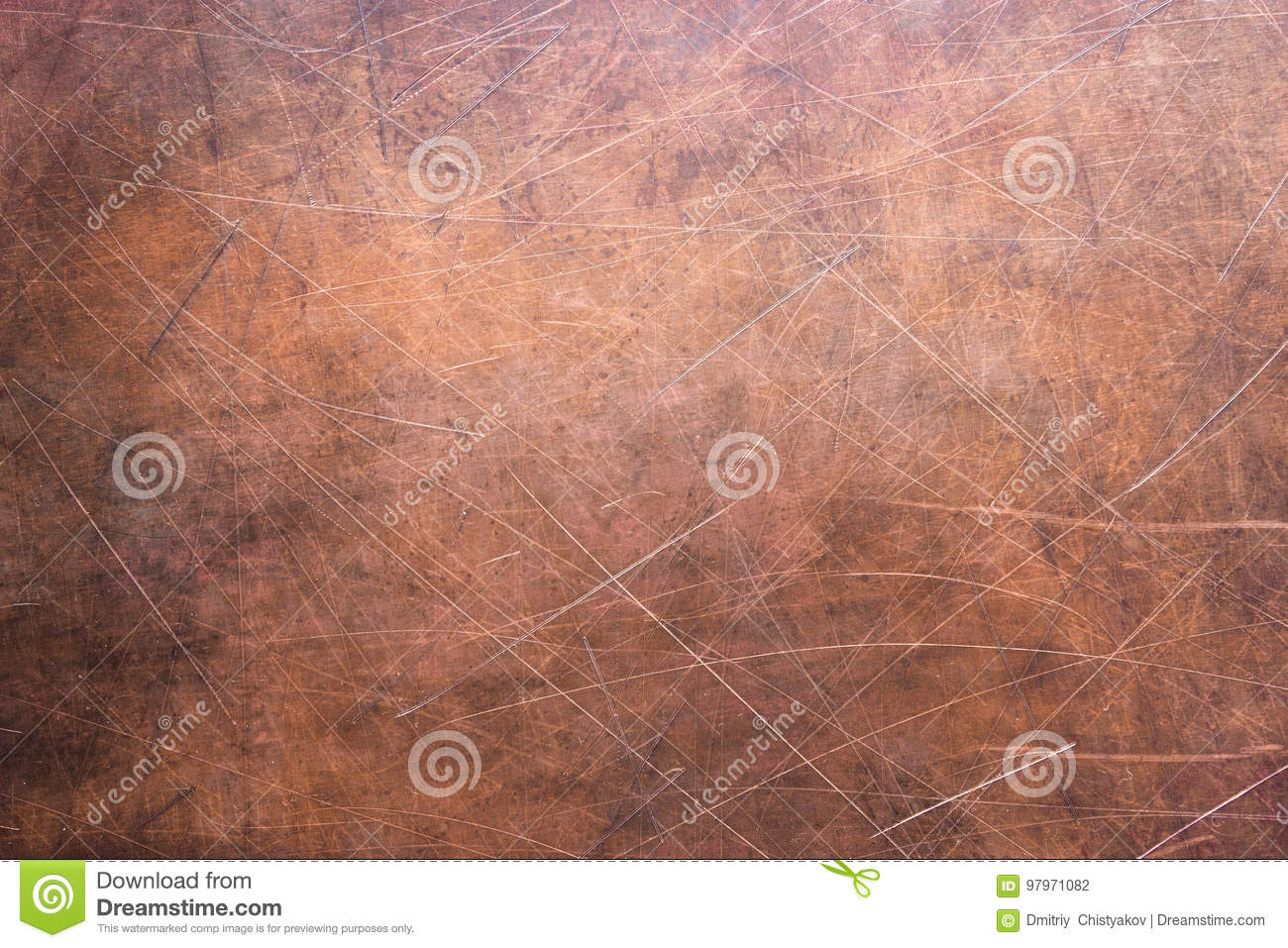 Copper Texture Or Bronze Rustic Metal Surface Stock Photo