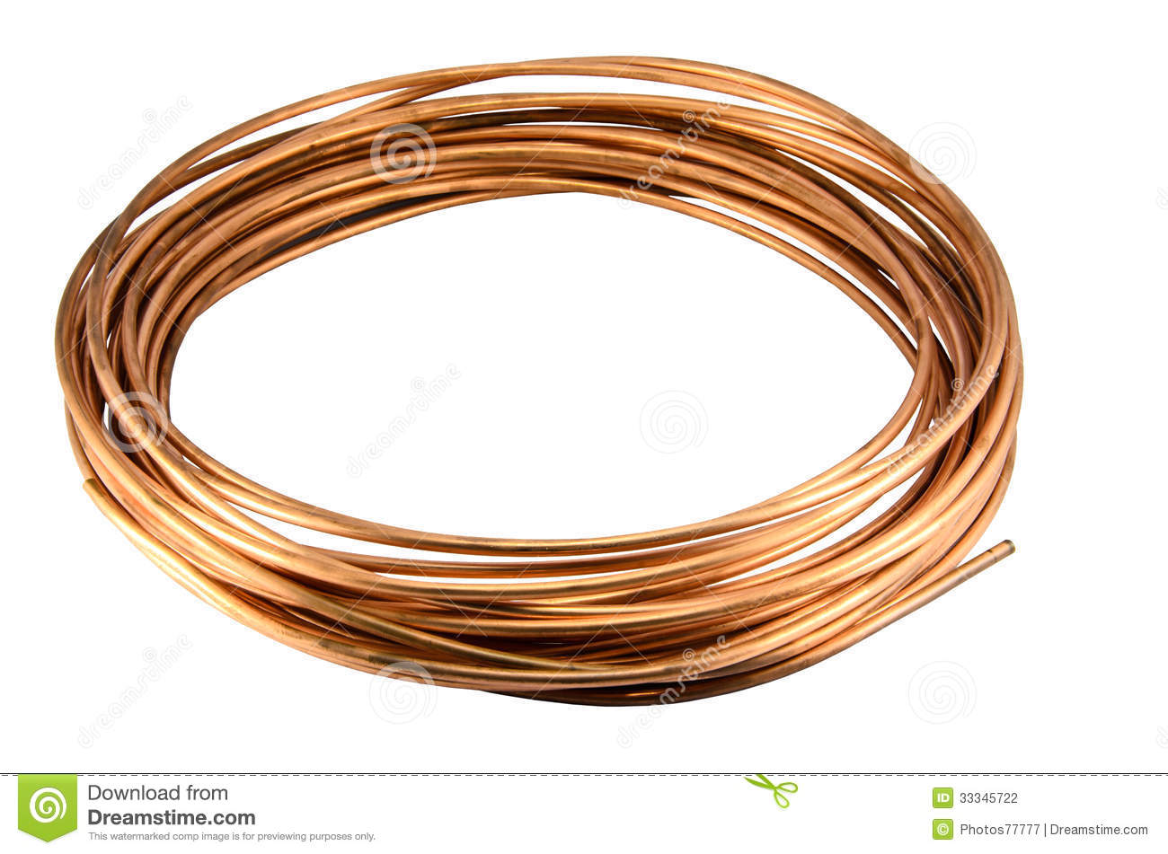 Copper Tubing Isolate Stock Photography Image 33345722