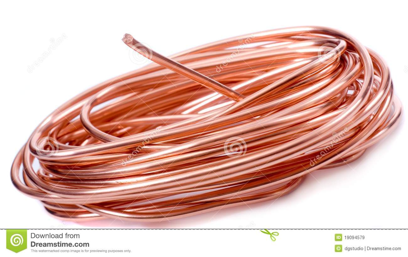 Copper Wire Identification : Copper wire royalty free stock images image
