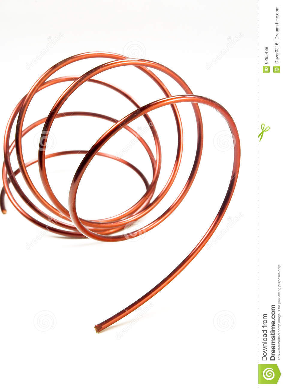 Copper Wire stock photo. Image of conduct, space, electricity - 6265488