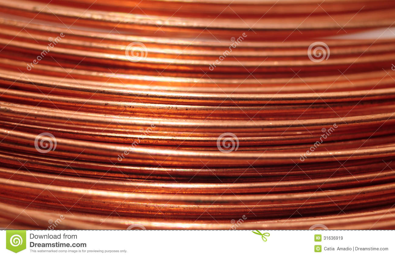 Copper Wire Identification : Copper wire background stock image of texture