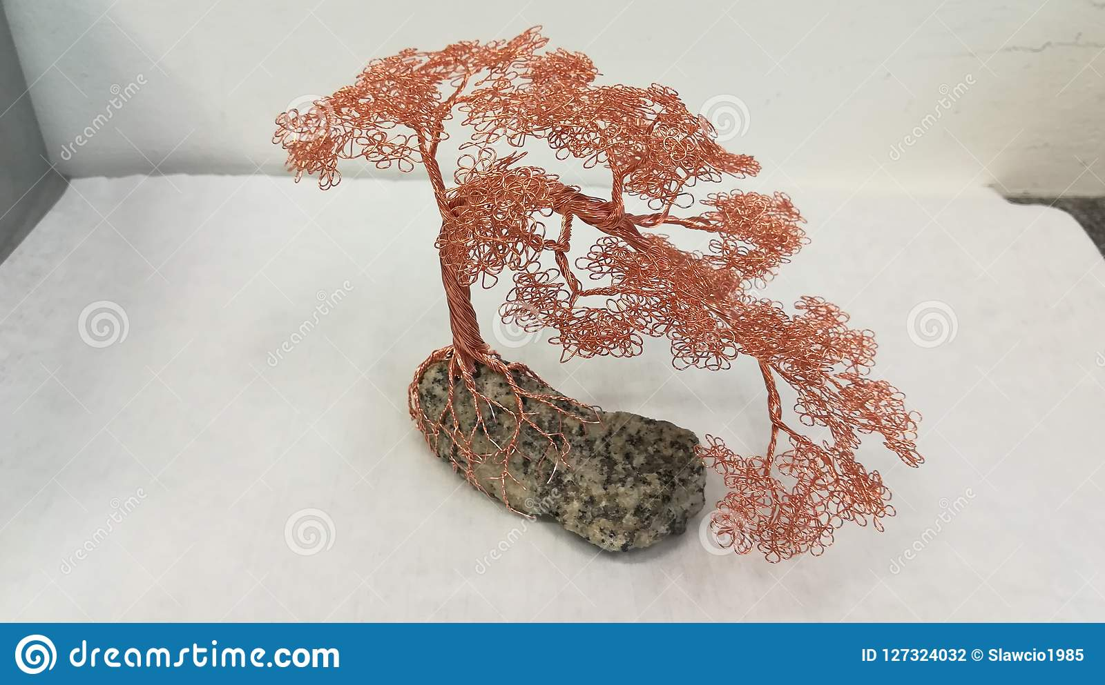 Copper Wire Bonsai Tree On A Stone Editorial Photography Image Of What Does Wiring Do
