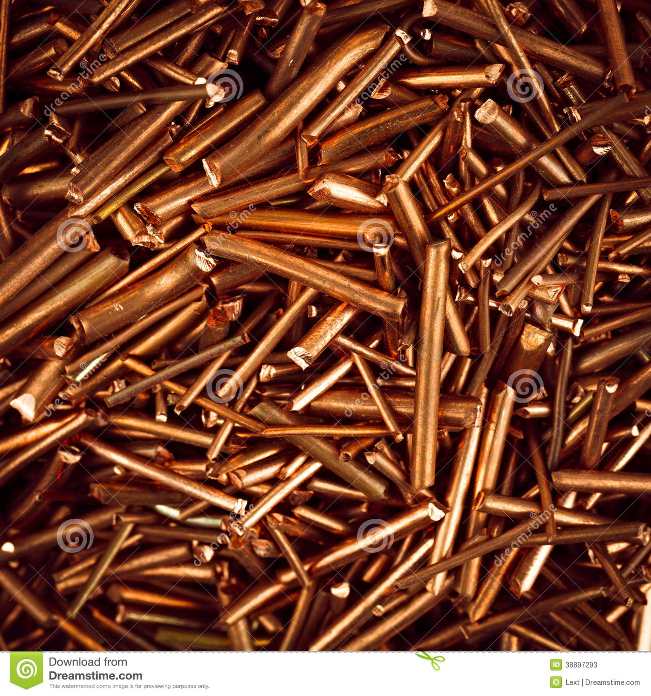 Copper wire stock image. Image of recycling, waste, electricity ...