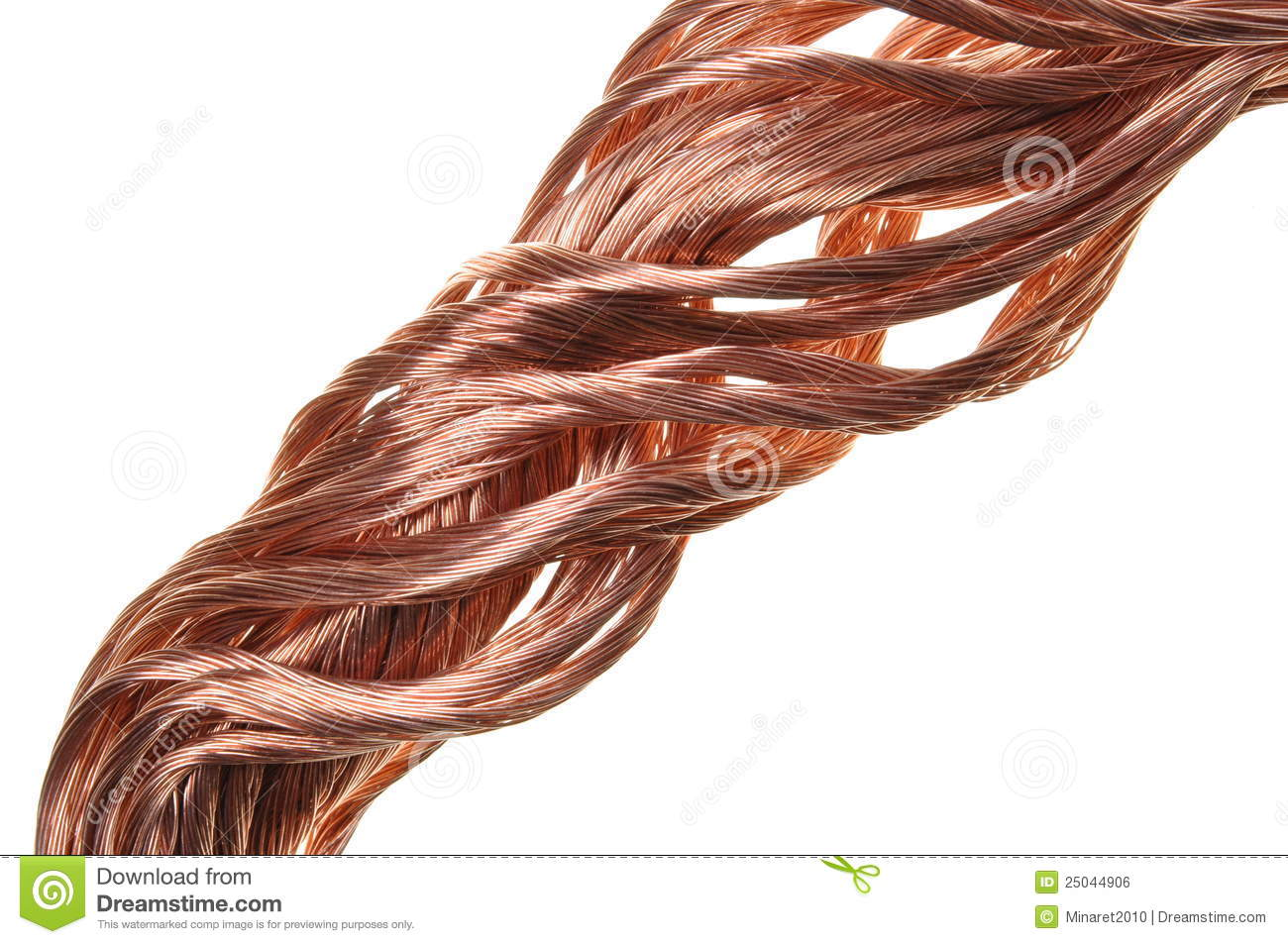 Copper Cable Market Share : Copper wire industry development royalty free stock image