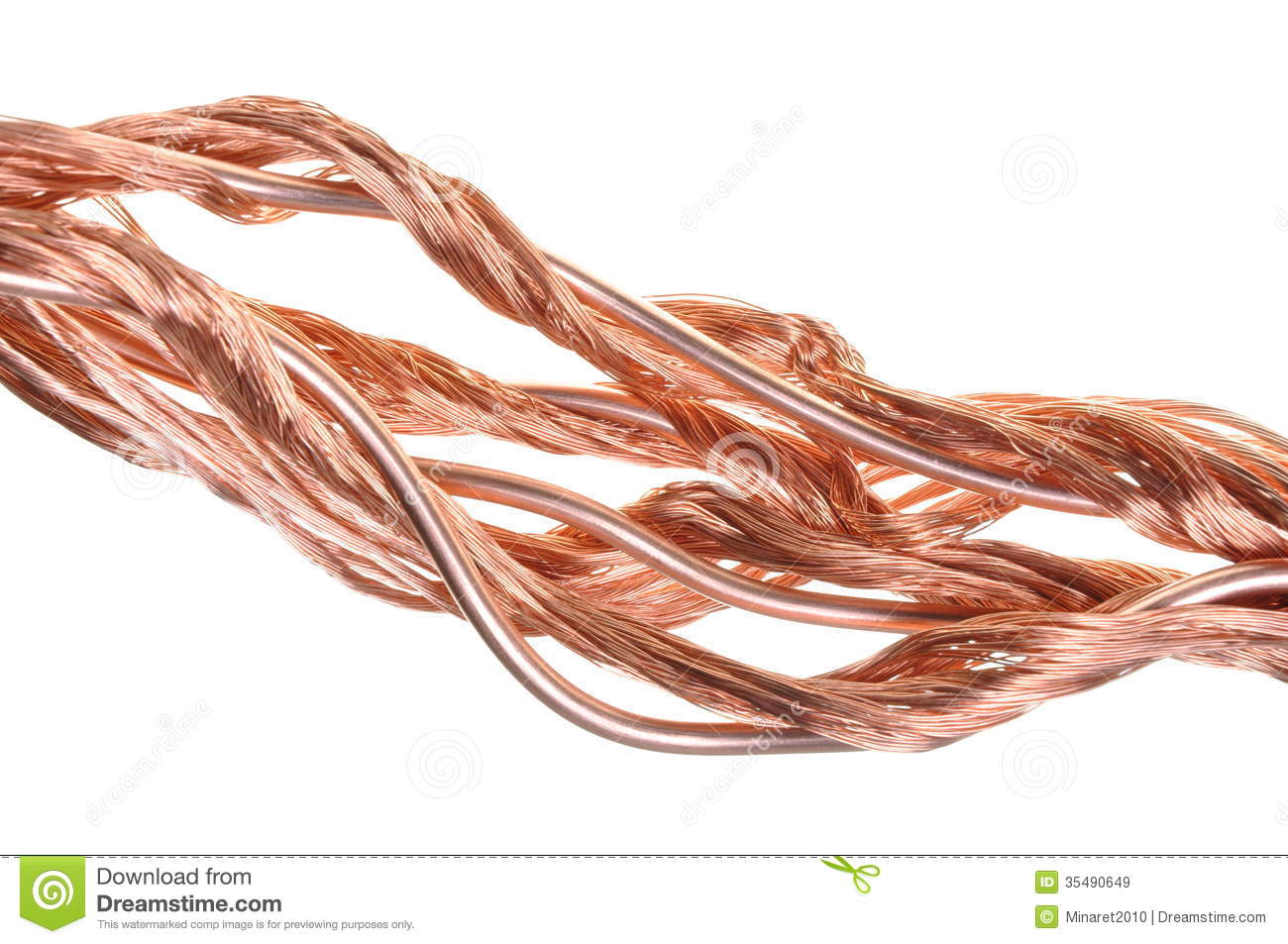 Copper Cable Market Share : Copper wire for the power industry royalty free stock