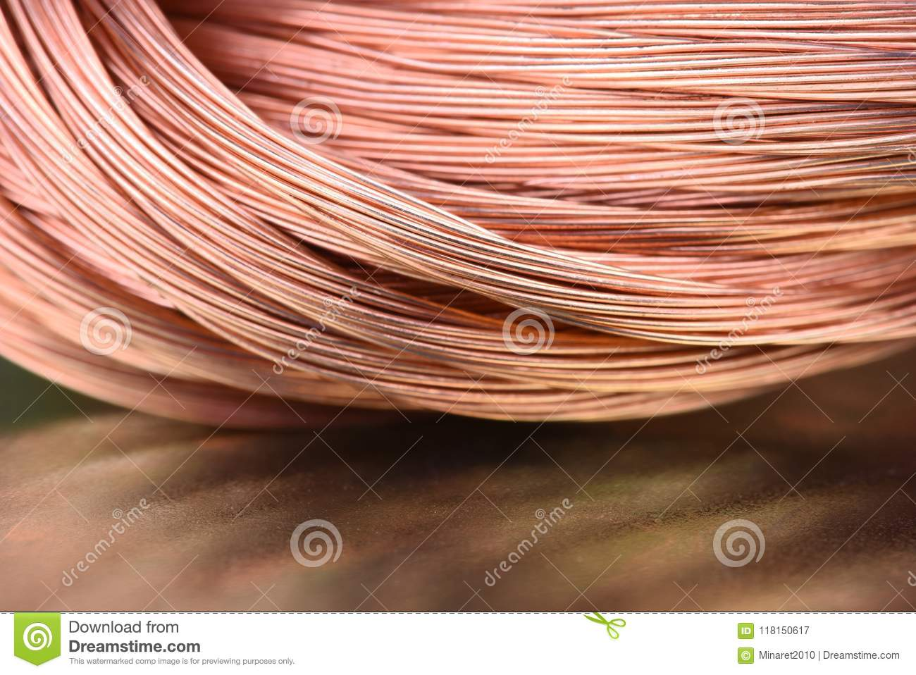 Electrical Wire Raw Materials Center Wiring Types Copper And Metals Industry Closeup Stock Image Rh Dreamstime Com Connectors