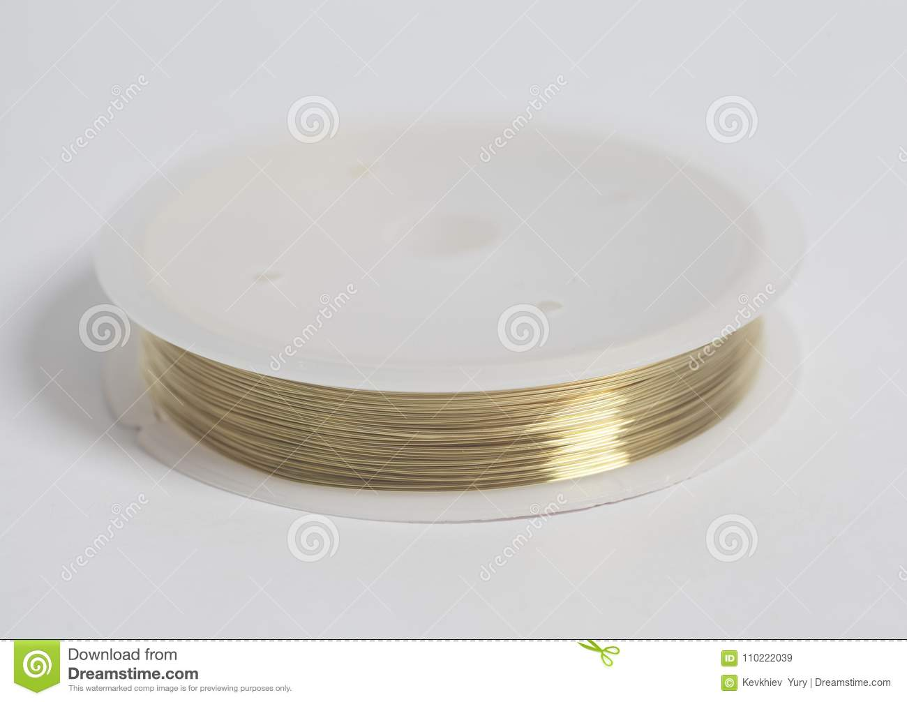 Copper wire on spool stock image. Image of roll, reflection - 110222039