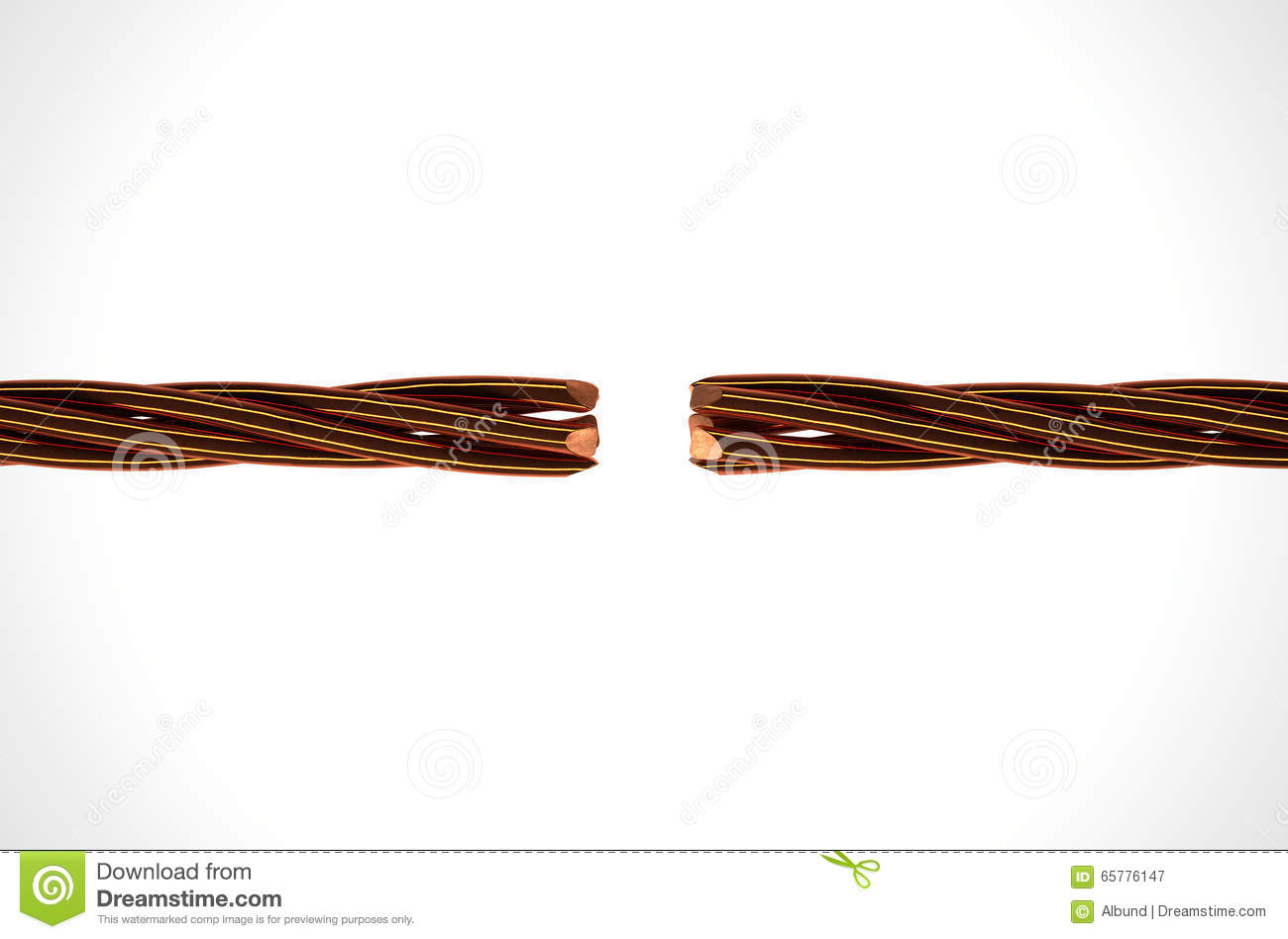 Copper Wire Strands Disconnected Stock Image - Image of disconnected ...