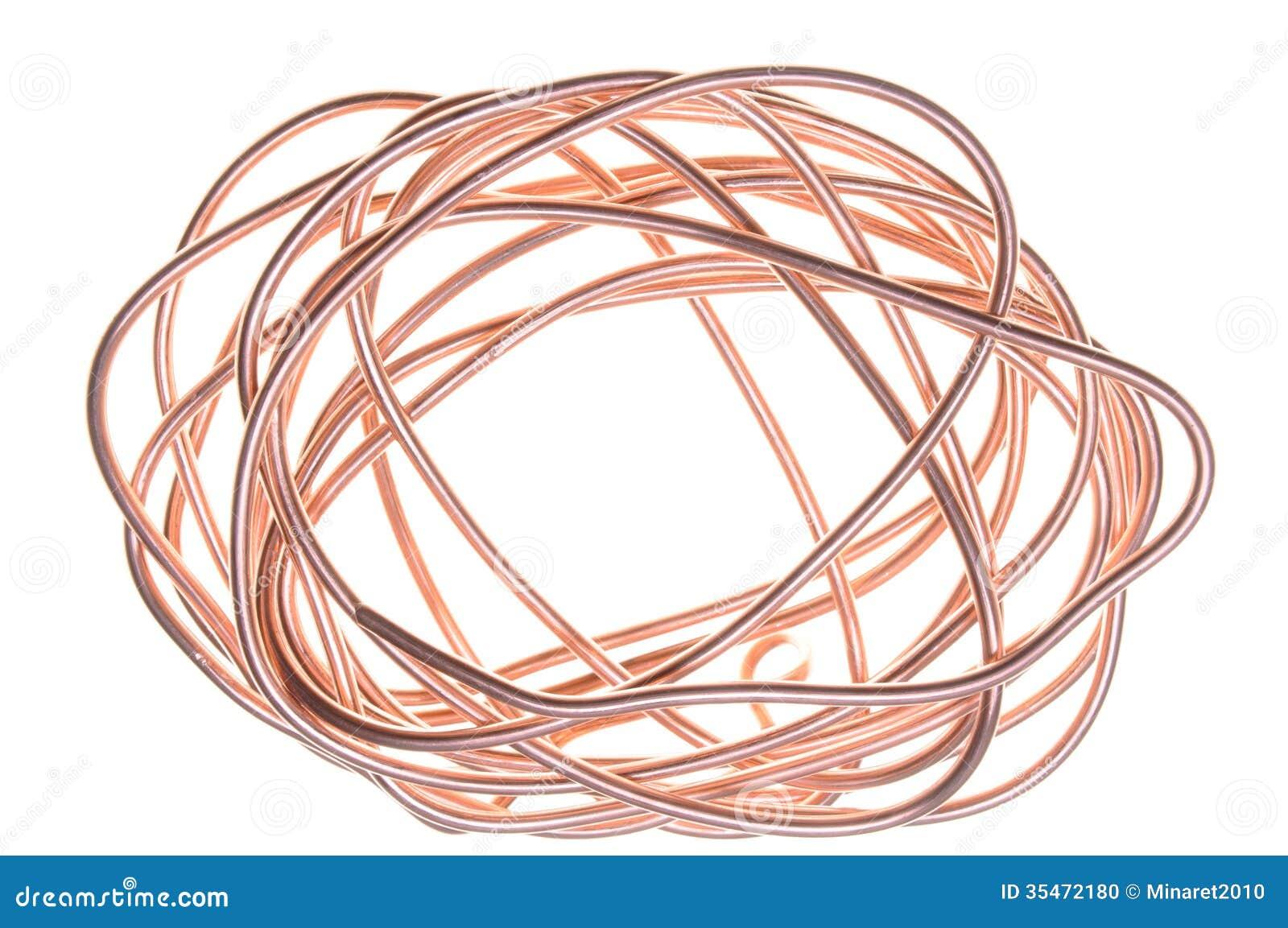 Copper Wire Bundle : Copper wire stock photo image of economy electron