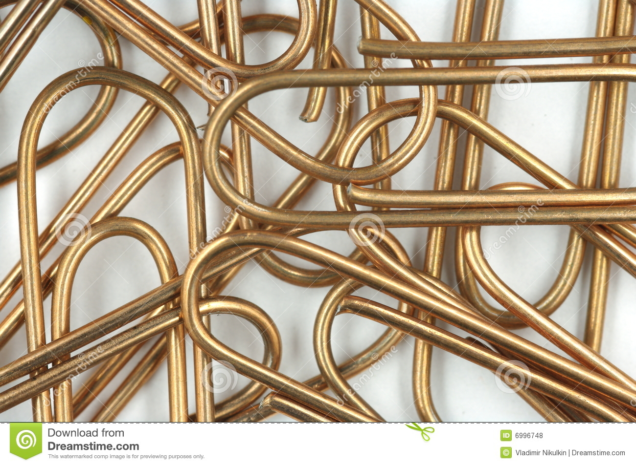 Copper Writing Paper Clips Royalty Free Stock Photos - Image: 6996748