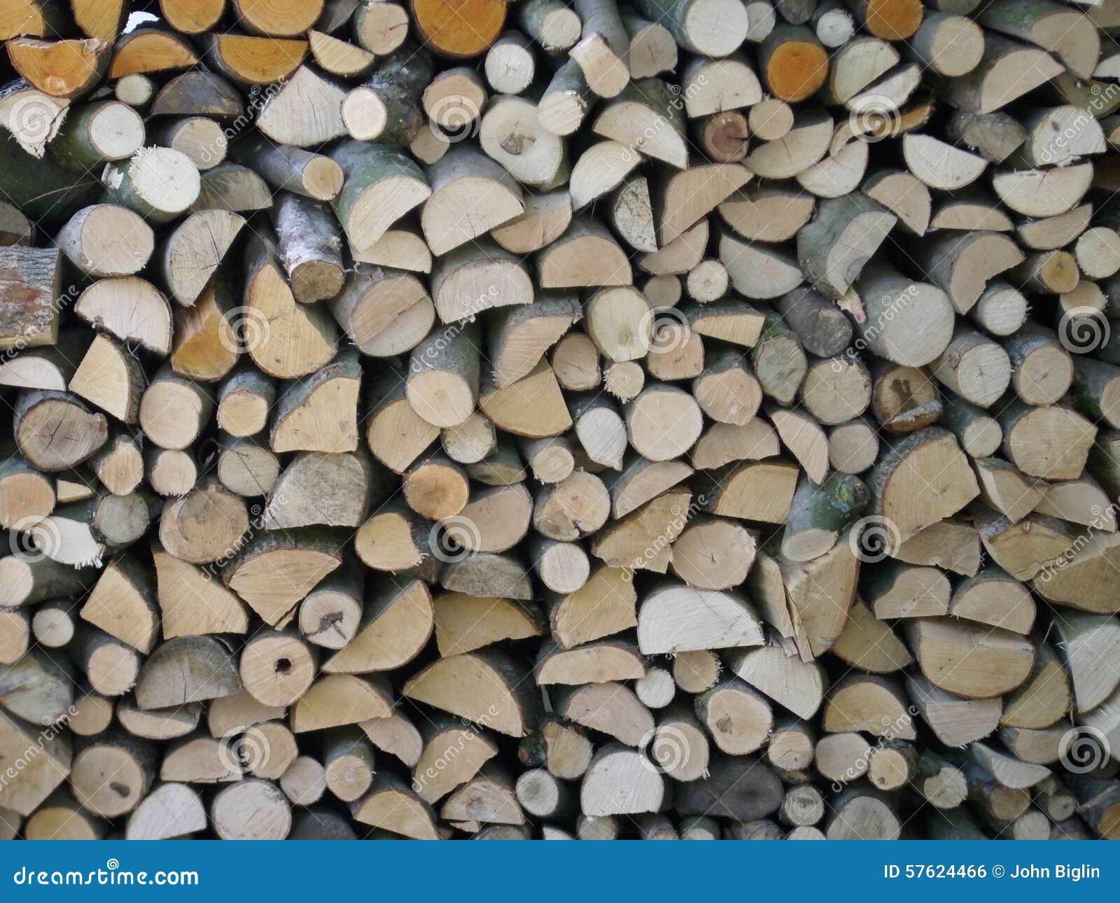 Firewood log stack