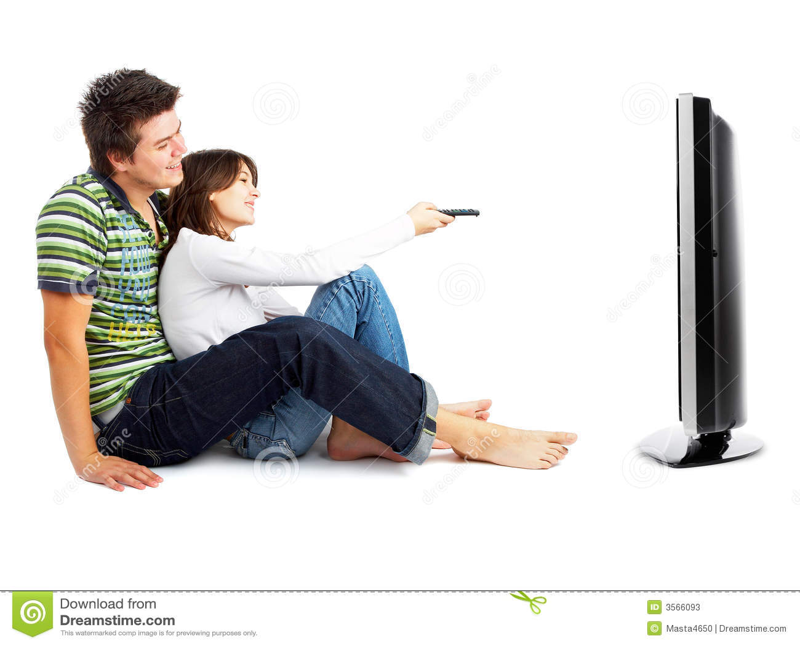 Coppie che guardano TV