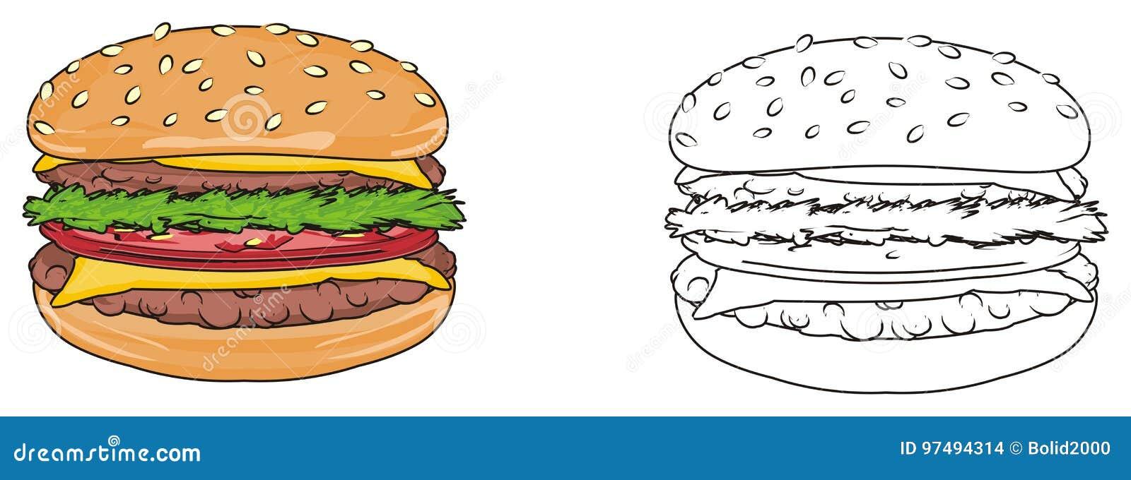 Coppie degli hamburger