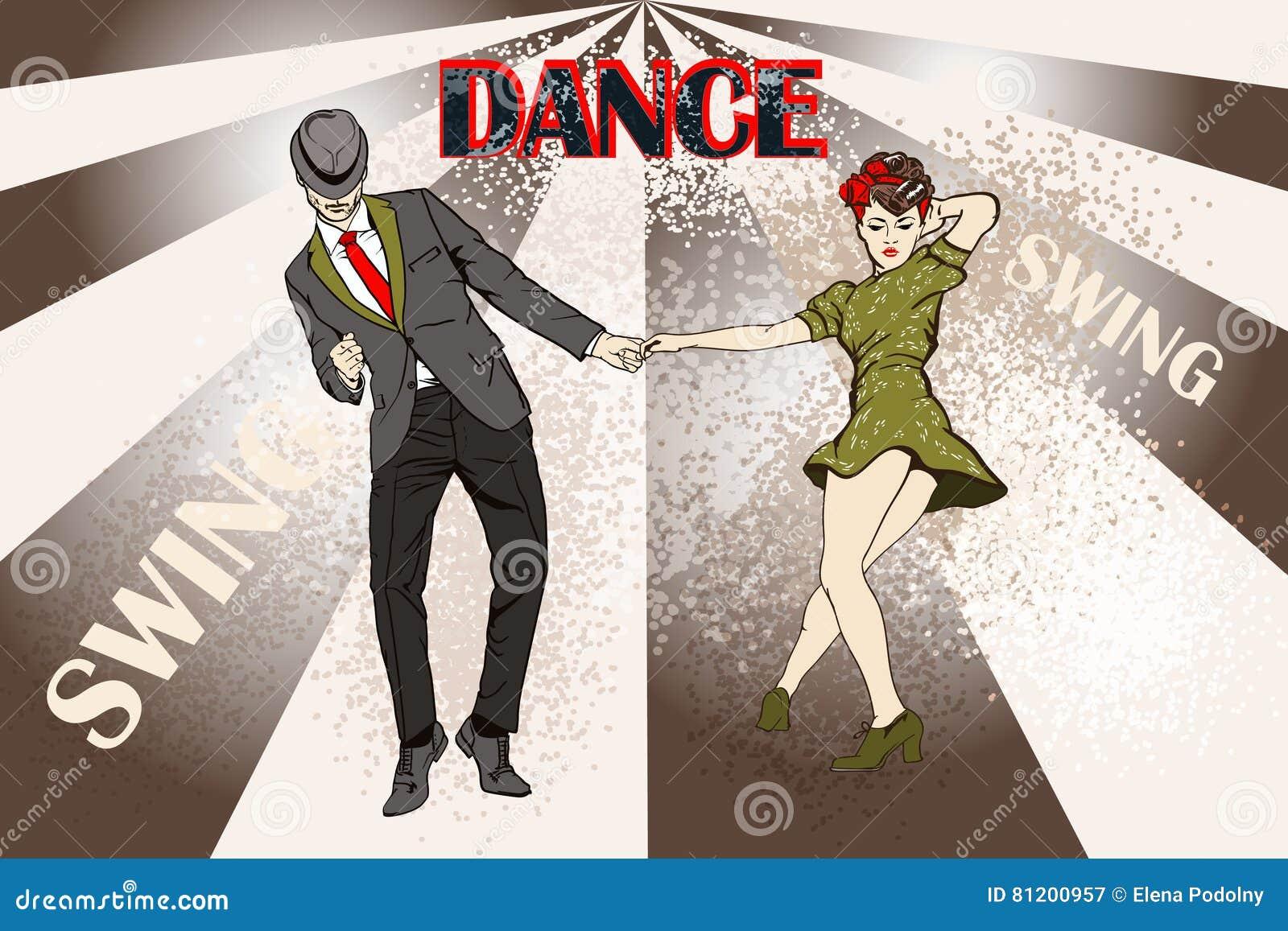 Coppie di Dancing? isolate su bianco