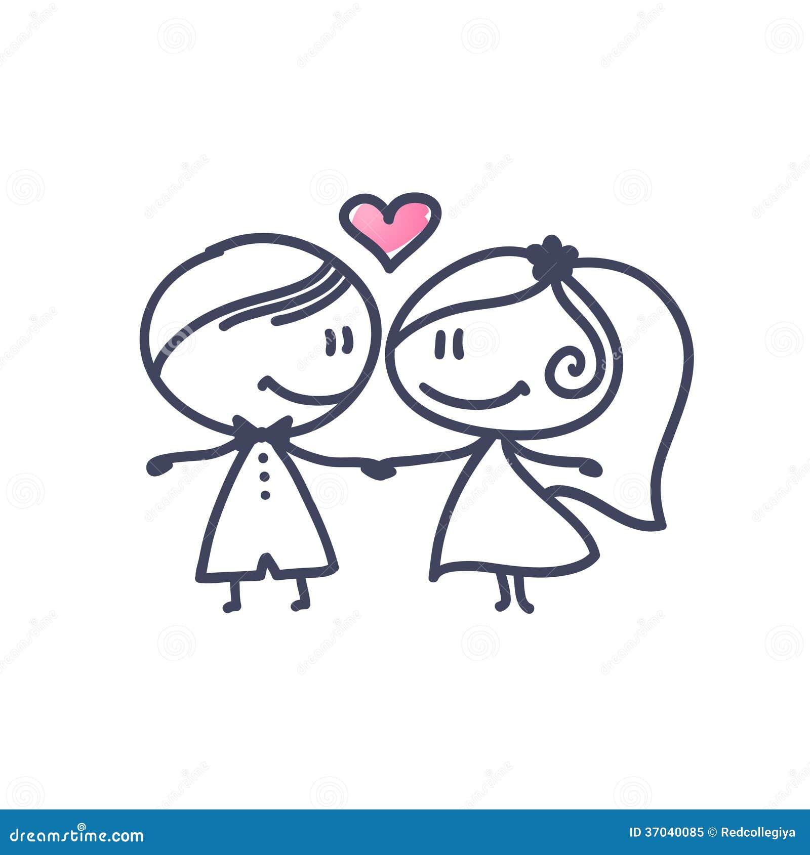 coppie di nozze illustrazione vettoriale illustrazione di