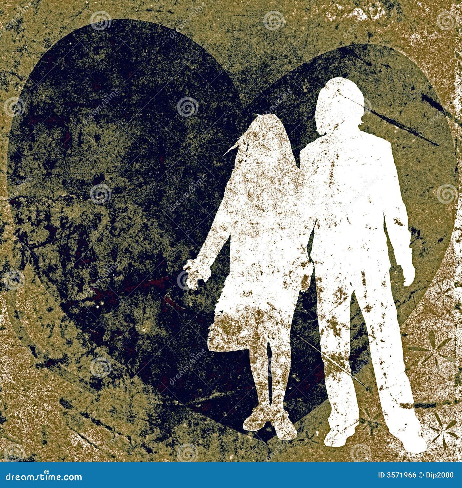 Coppie, disegno del biglietto di S. Valentino