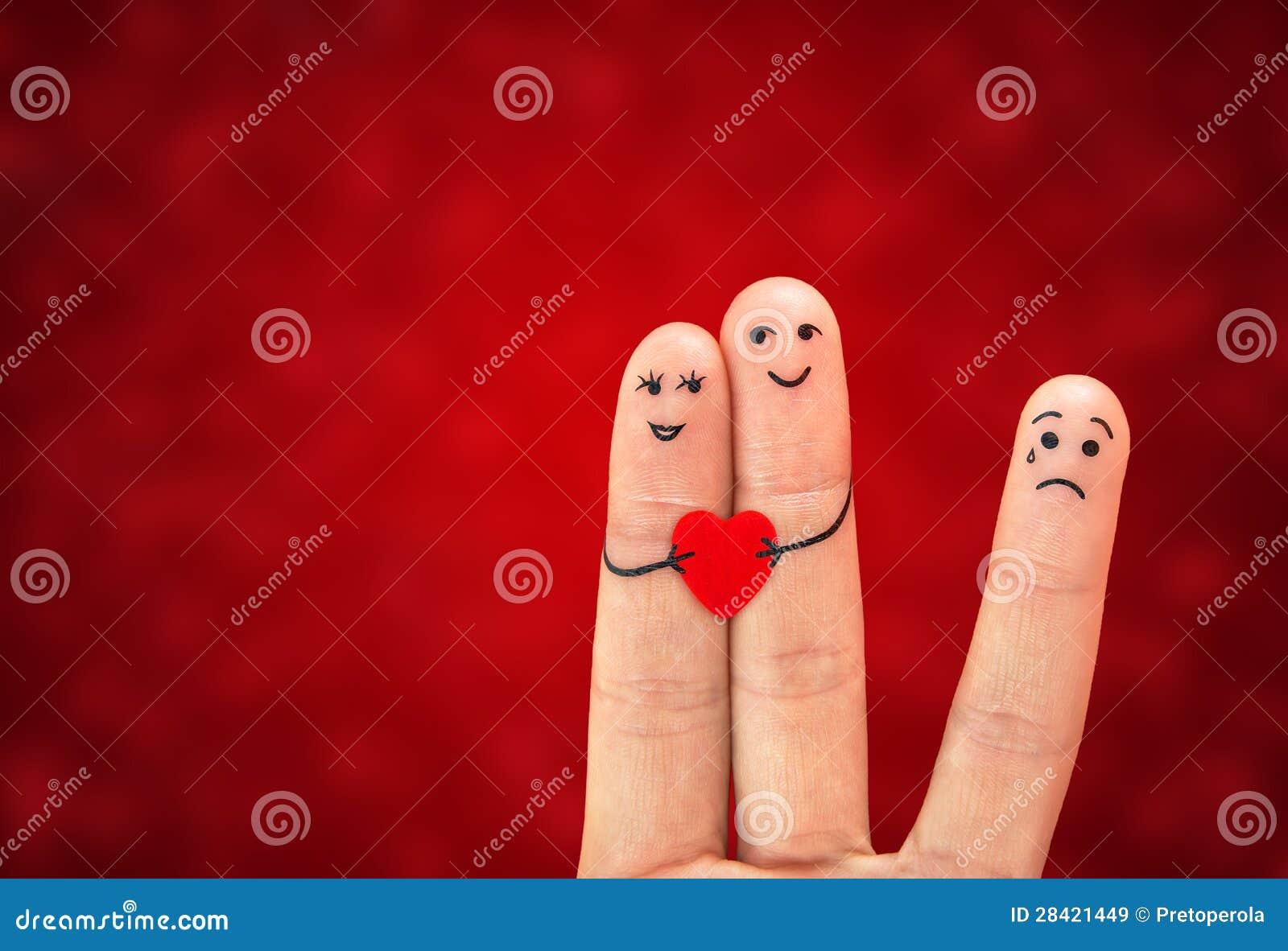 Coppie felici in amore e terza ruota