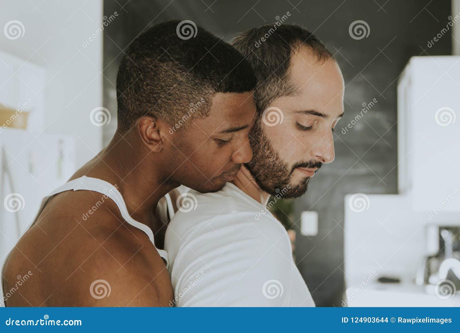 Coppie Nude Che Baciano E Che Abbracciano Fotografia Stock