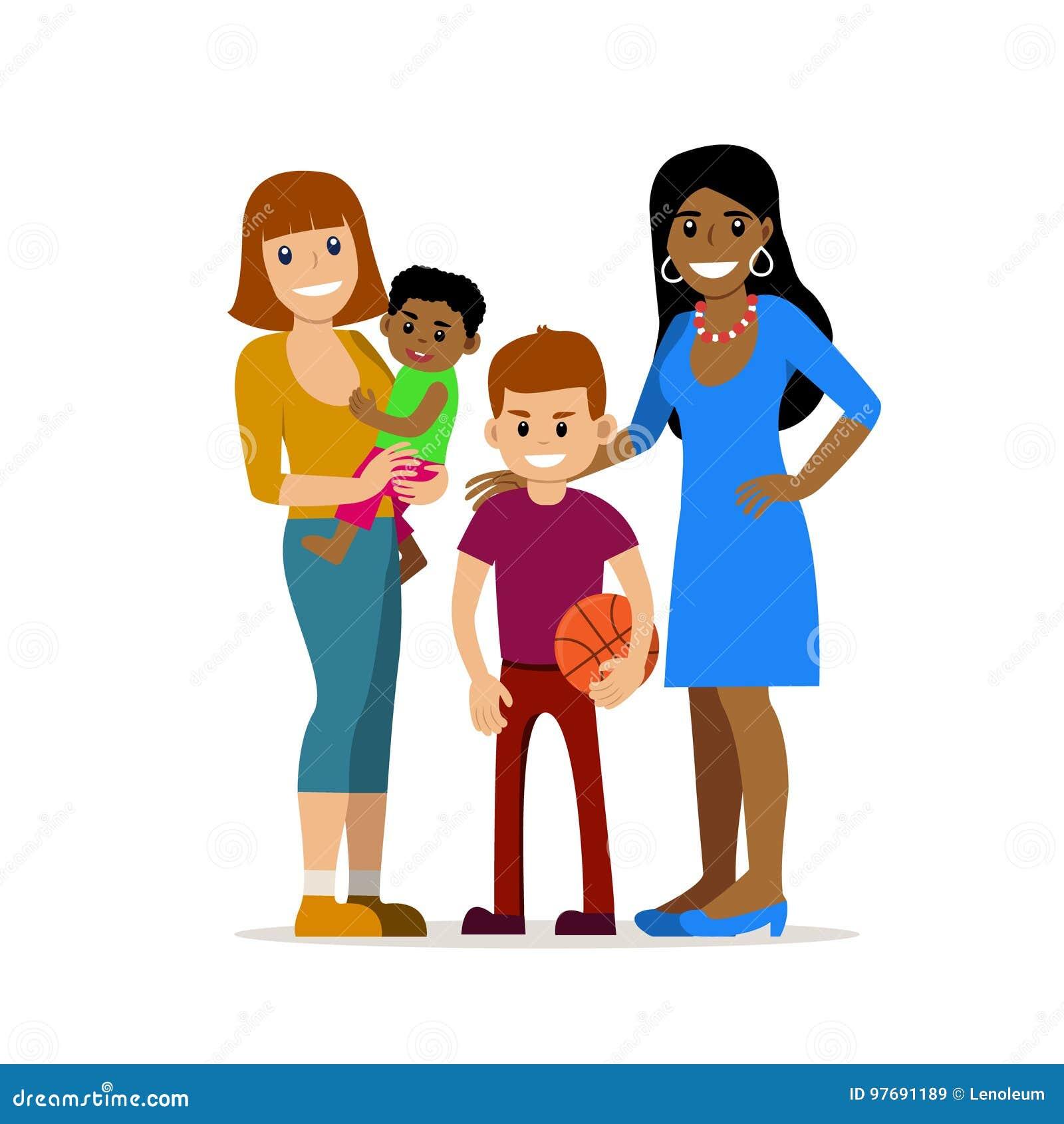same sex families cartoon pictures in Atlanta