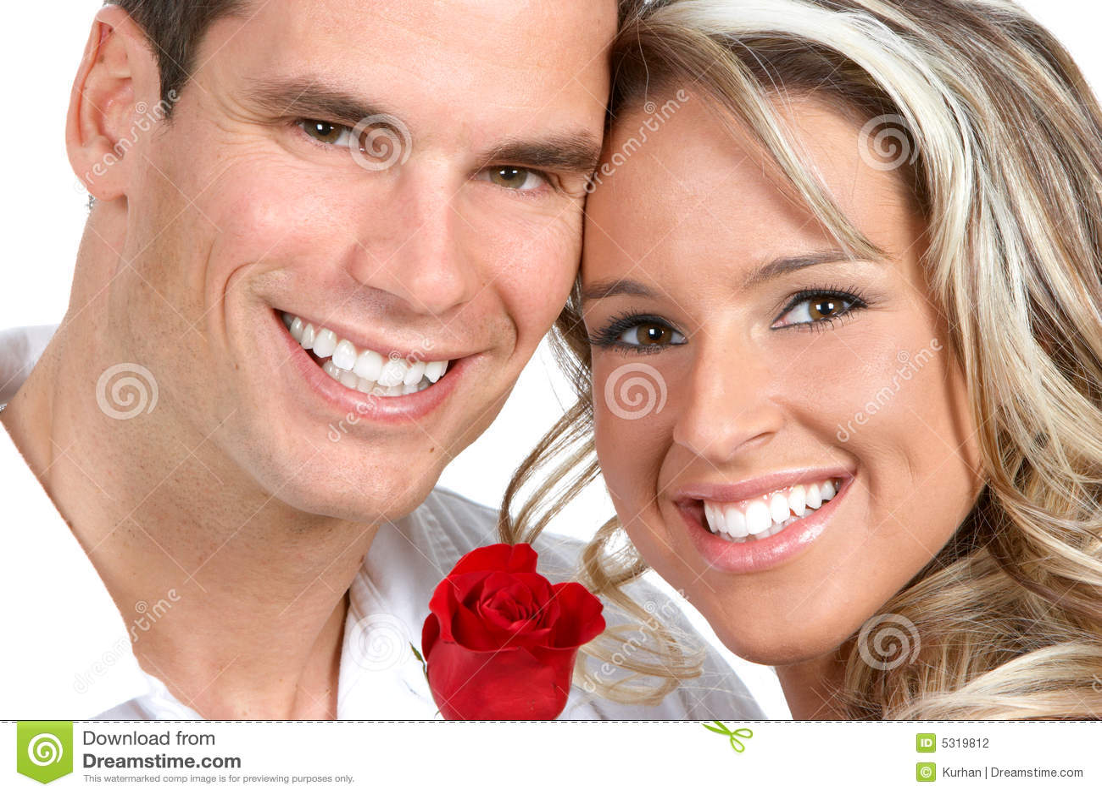 Download Coppie nell'amore fotografia stock. Immagine di sorridere - 5319812