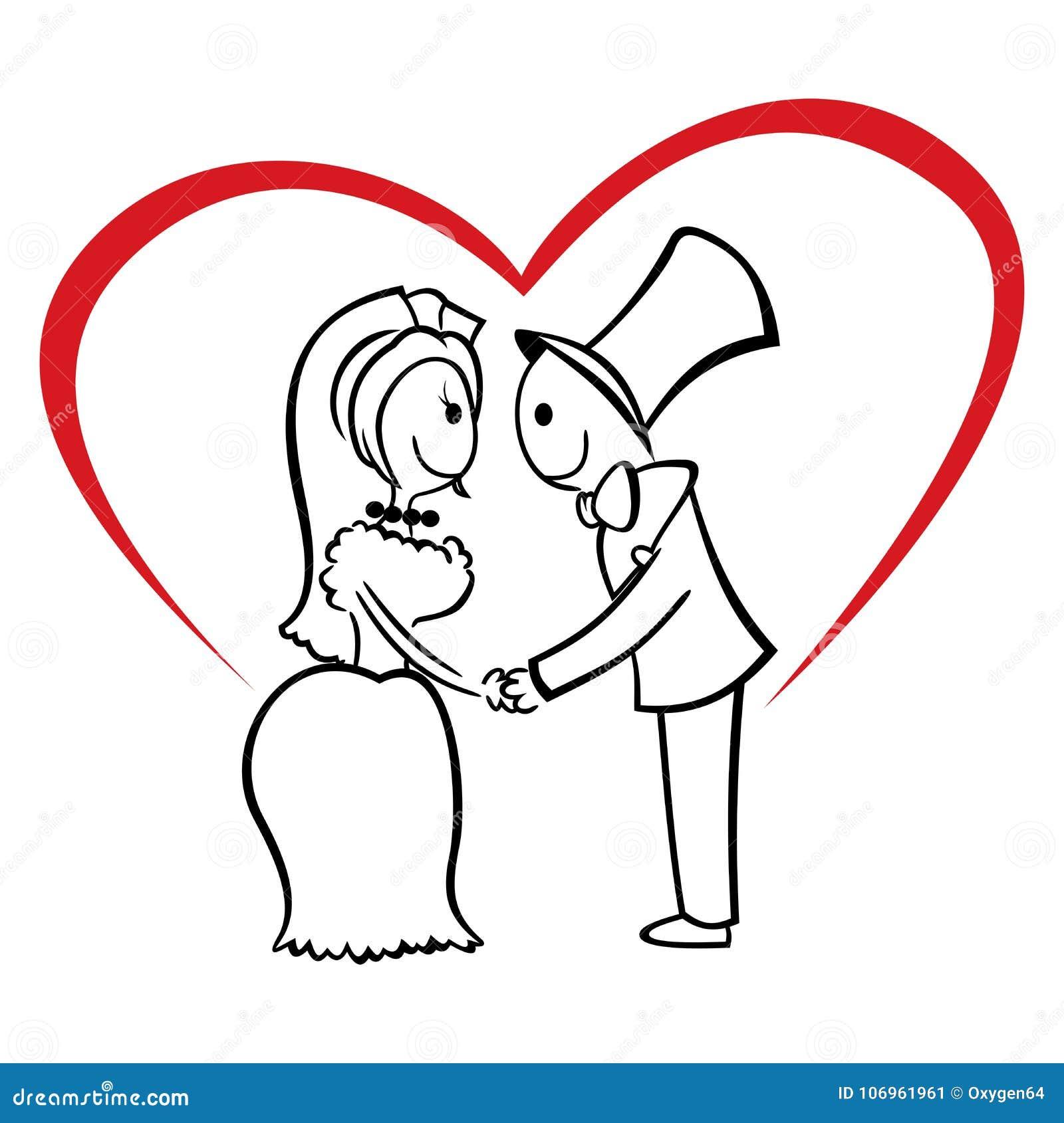 Coppie nell amore su nozze