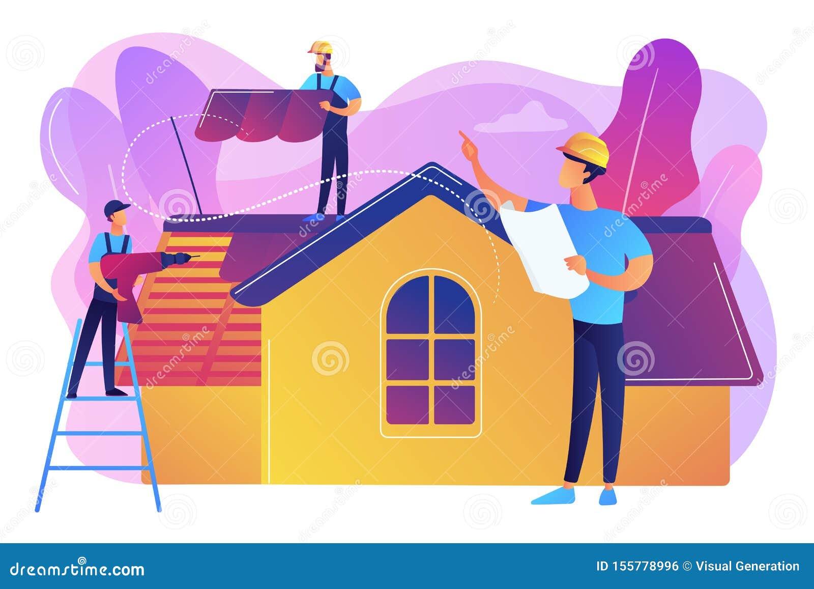 Coprire l illustrazione di vettore di concetto di servizi
