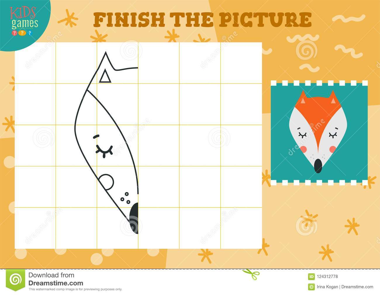 copy and complete the picture vector blank game illustration stock