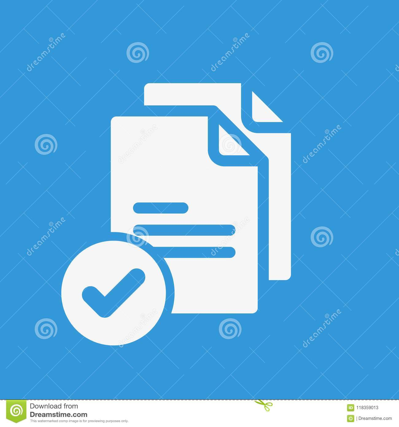 Copy Icon Signs Icon With Check Sign Copy Icon And Approved
