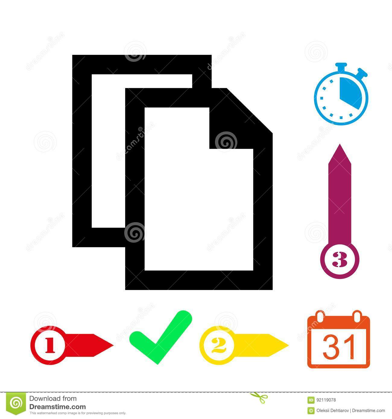 Copy icon stock vector illustration flat design stock for Copy design