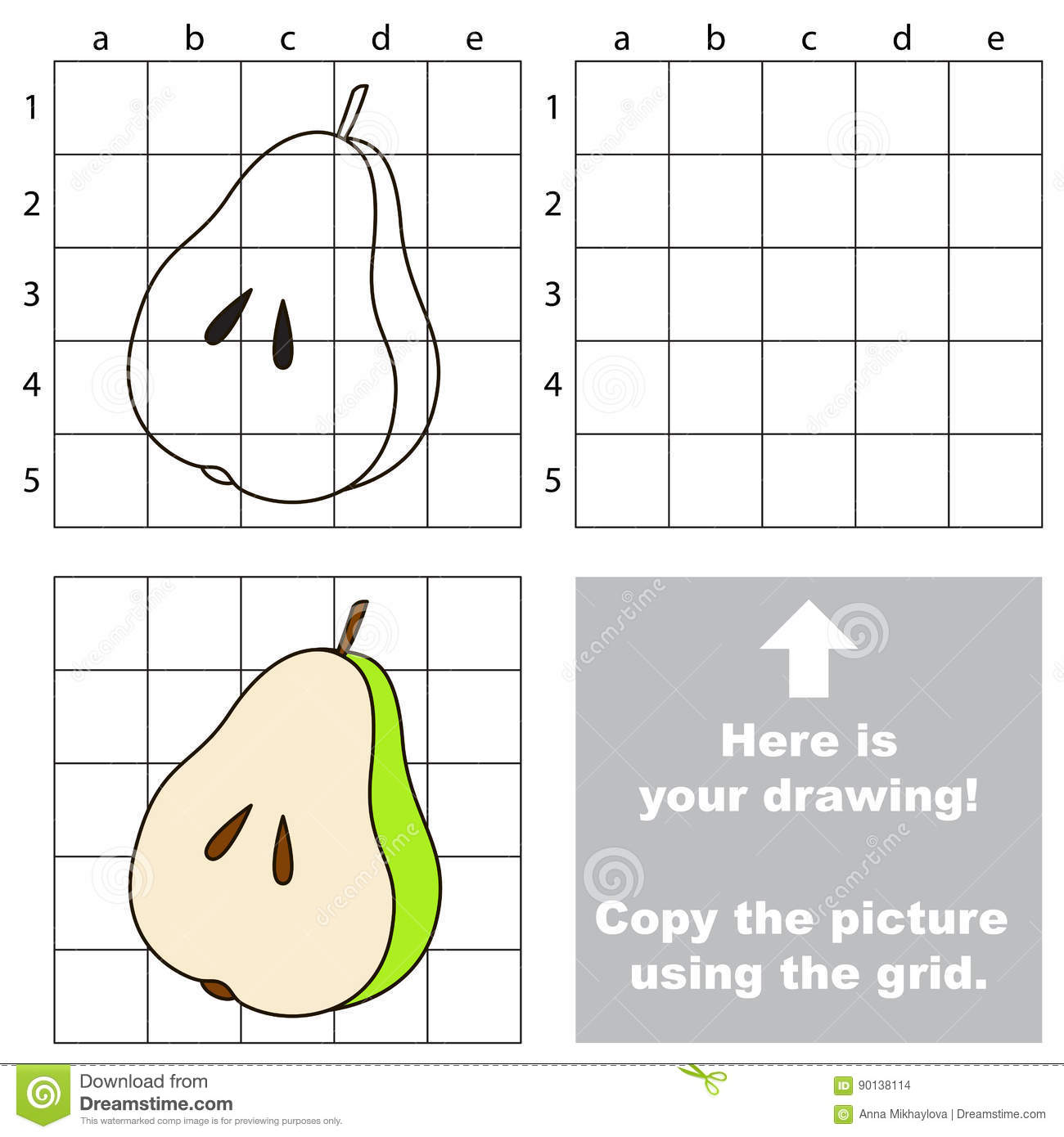 Copy The Image Using Grid Simple Educational Kid Game Stock Plant Cell Diagram For Kids