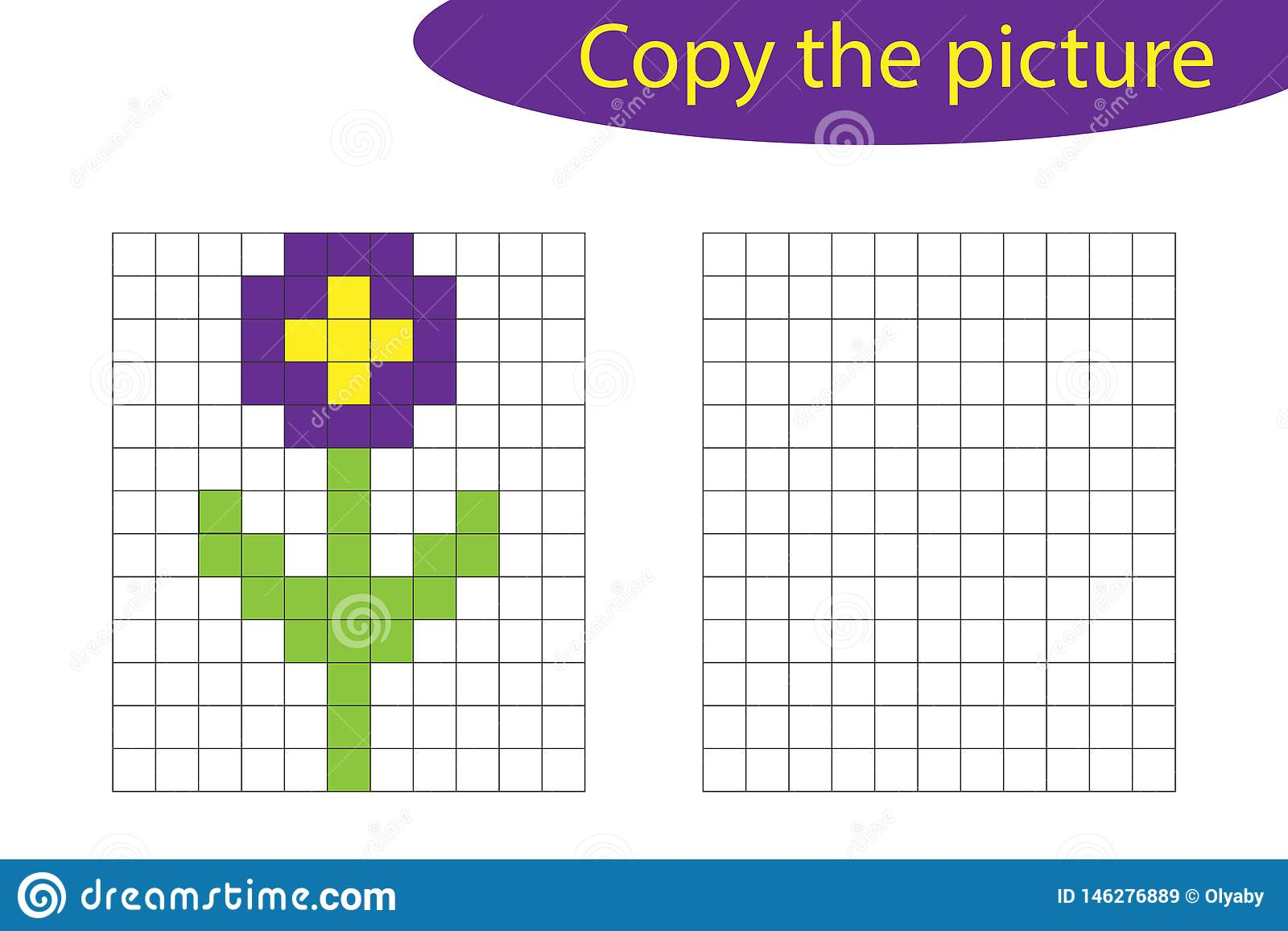 Copy The Picture Pixel Art Flower Cartoon Drawing Skills