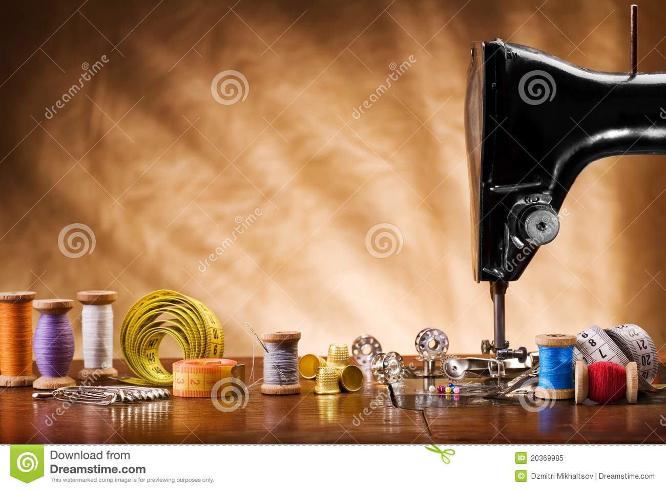 copy space image of sewing tools royalty free stock photo image 20369985. Black Bedroom Furniture Sets. Home Design Ideas