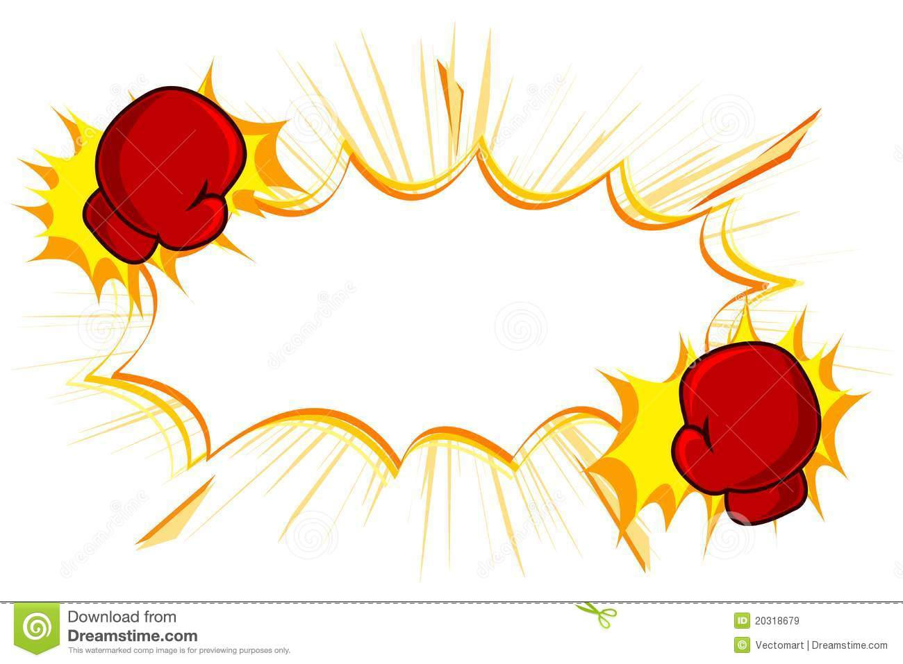 Illustration of copy space with kick boxing gloves on white background ...