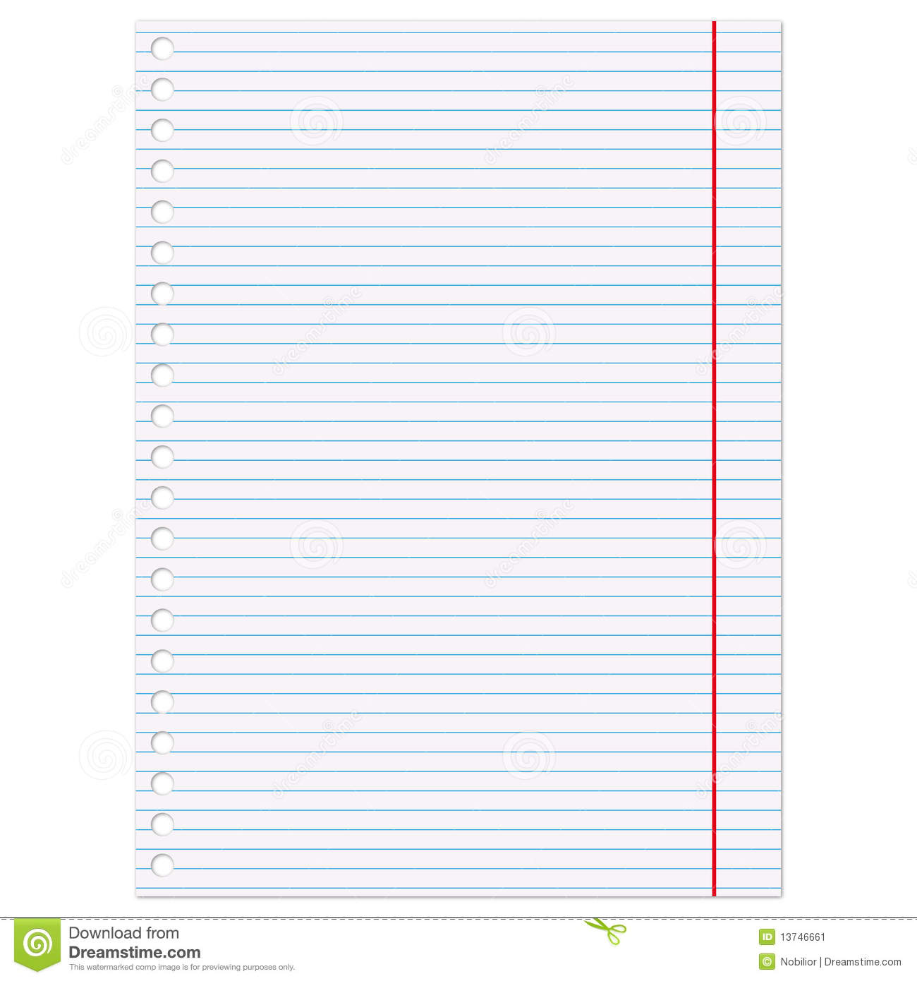 Page: Copybook Page Stock Vector. Illustration Of Record, Page