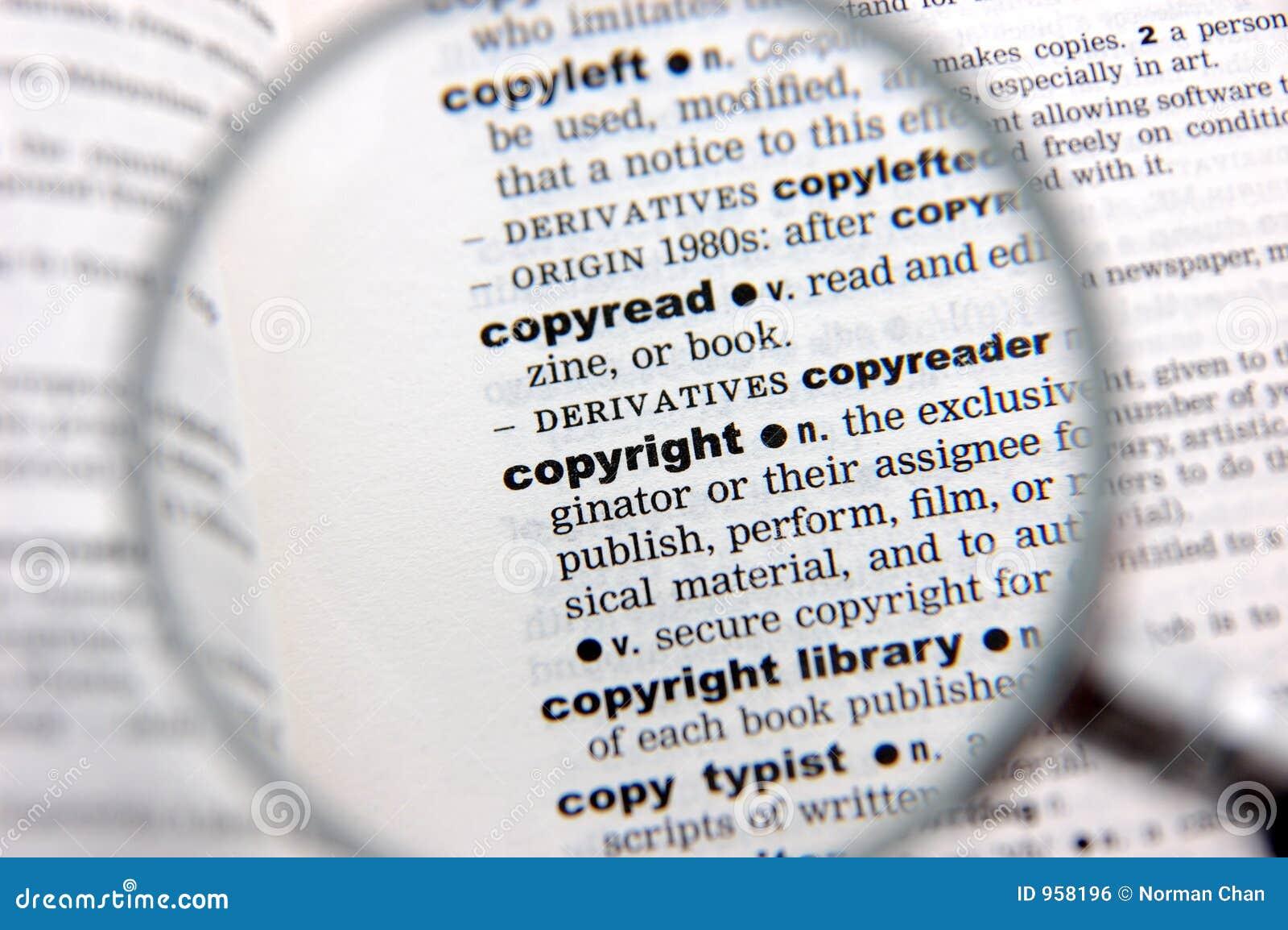 Copyright definitionen