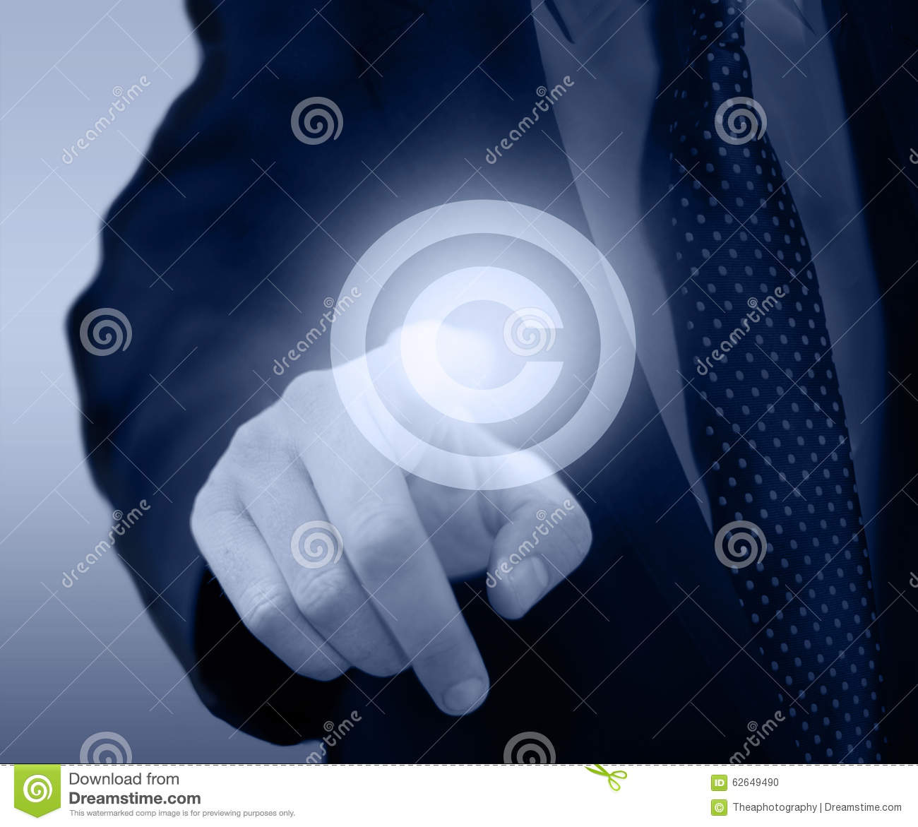 Intellectual Property Protection: Copyright And Patents Concept. Stock Photo