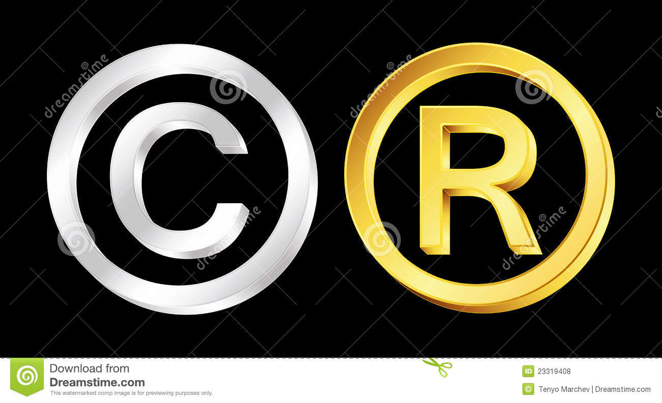 Copyright and reserved signs stock vector illustration of copyright and reserved signs buycottarizona