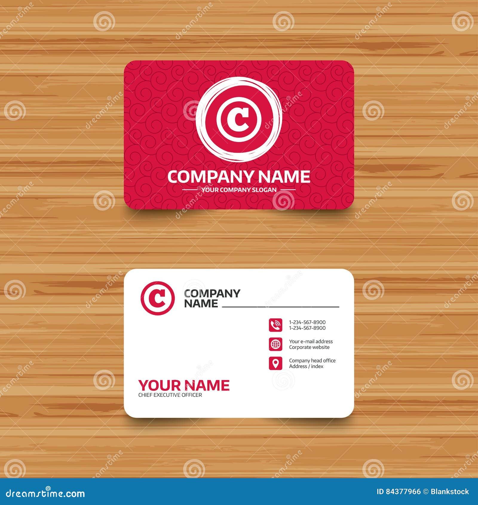 Copyright Sign Icon Copyright Button Stock Vector Illustration
