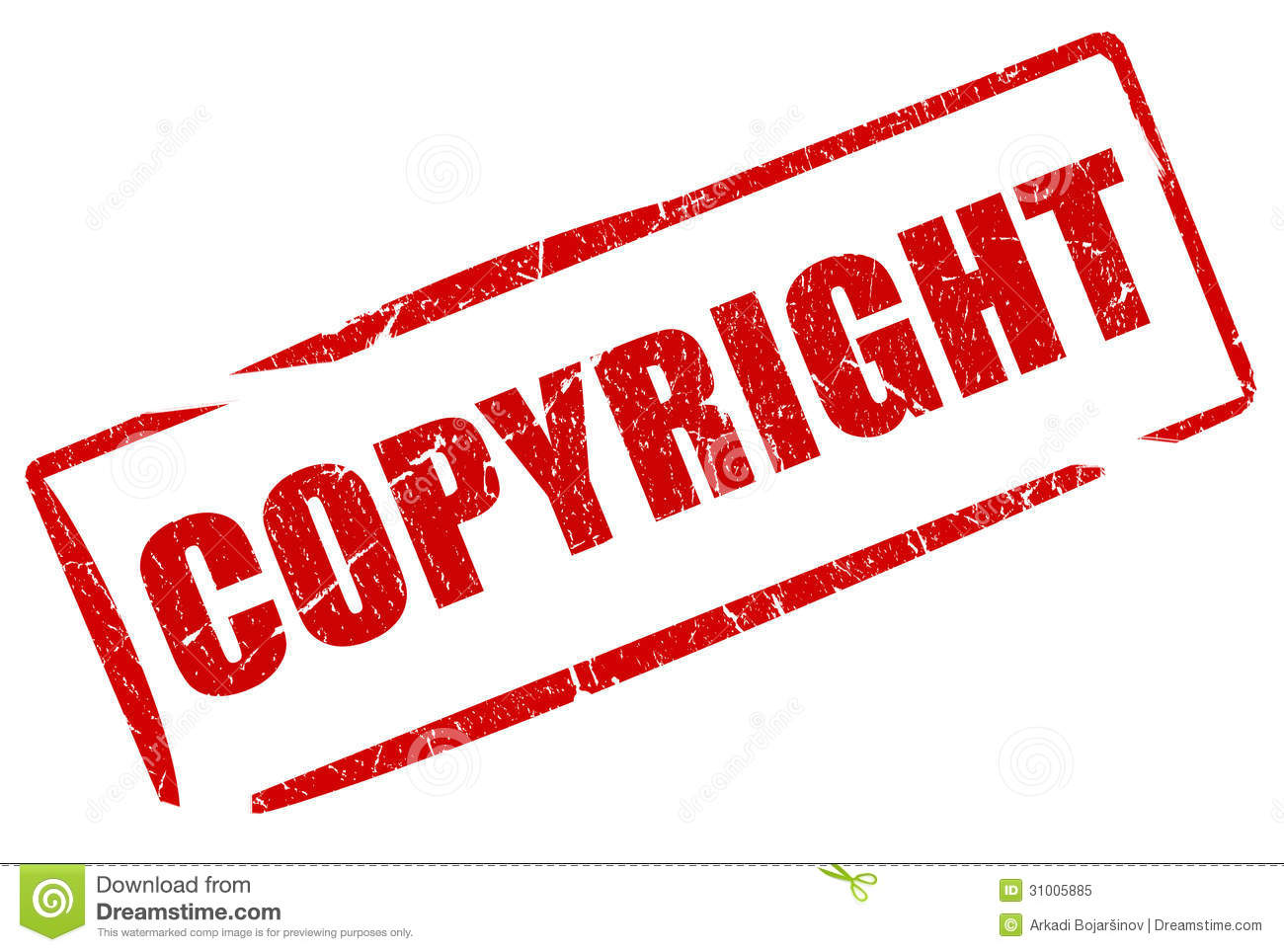 Copyright Stamp Royalty Free Stock Photo - Image: 31005885