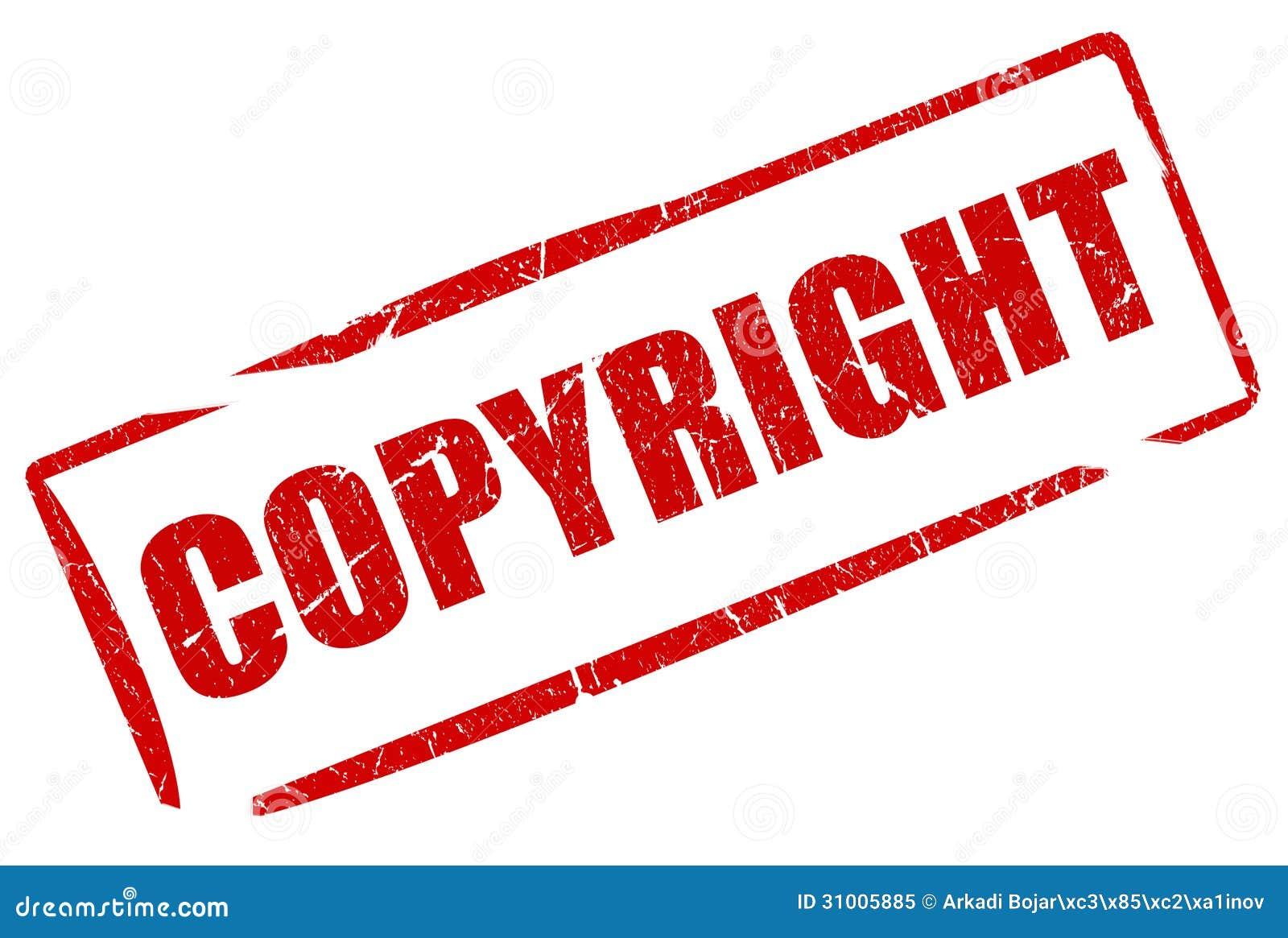 Copyright Stamp Stock Illustration. Illustration Of