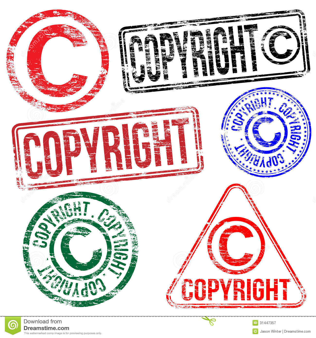 Copyright Stamps Royalty Free Stock Photography - Image ...