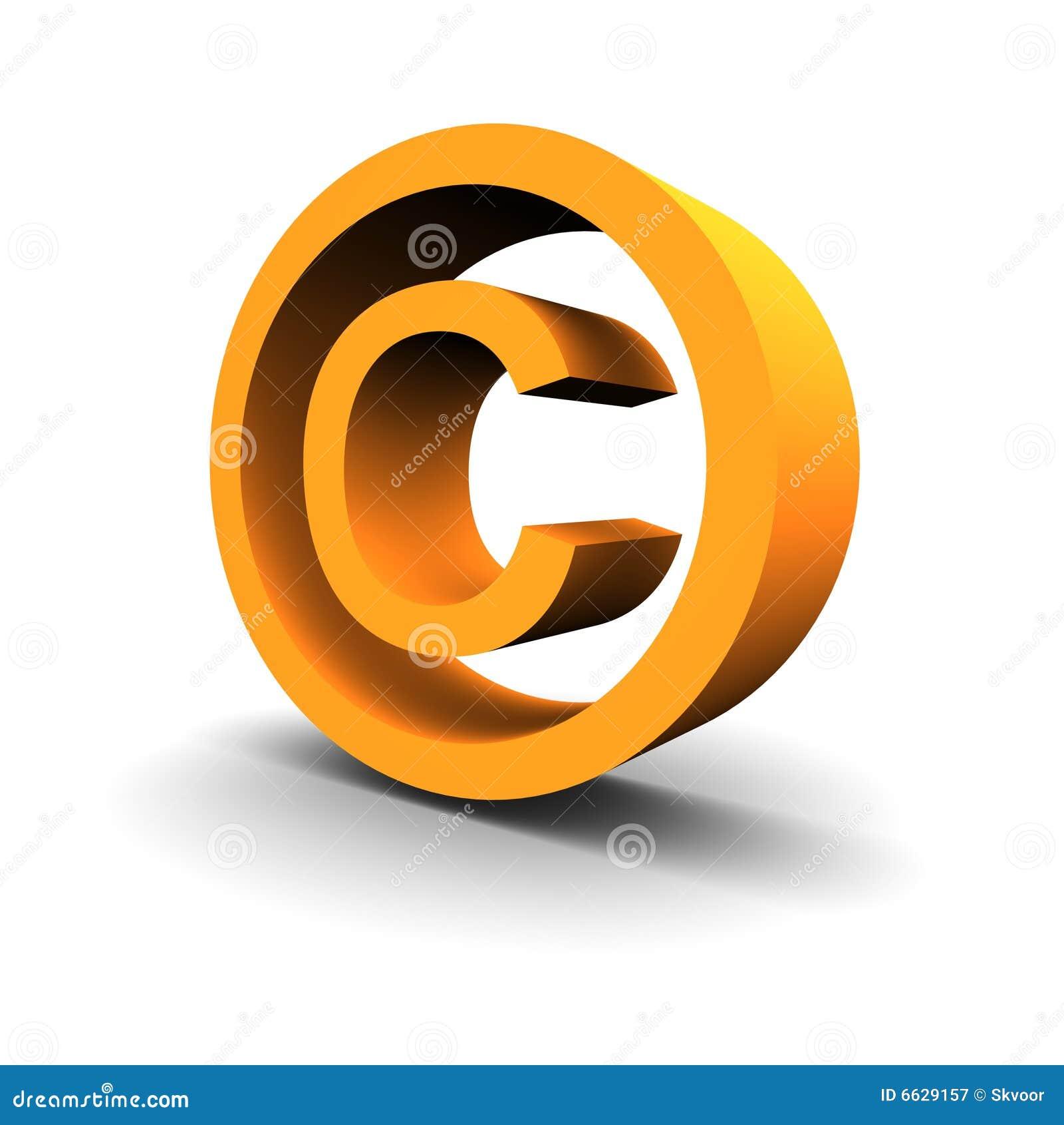 Copyright Symbol 3d Stock Illustration Illustration Of Orange 6629157
