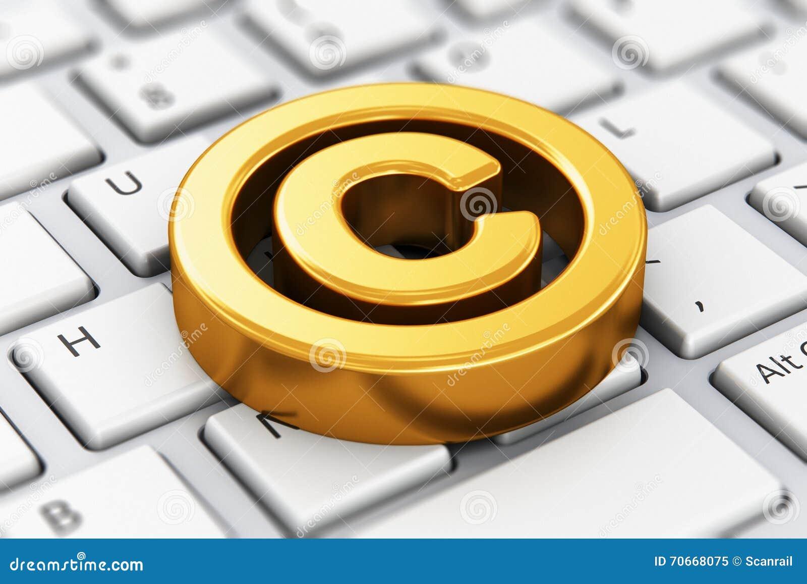 Copyright symbol on computer keyboard stock illustration copyright symbol on computer keyboard biocorpaavc