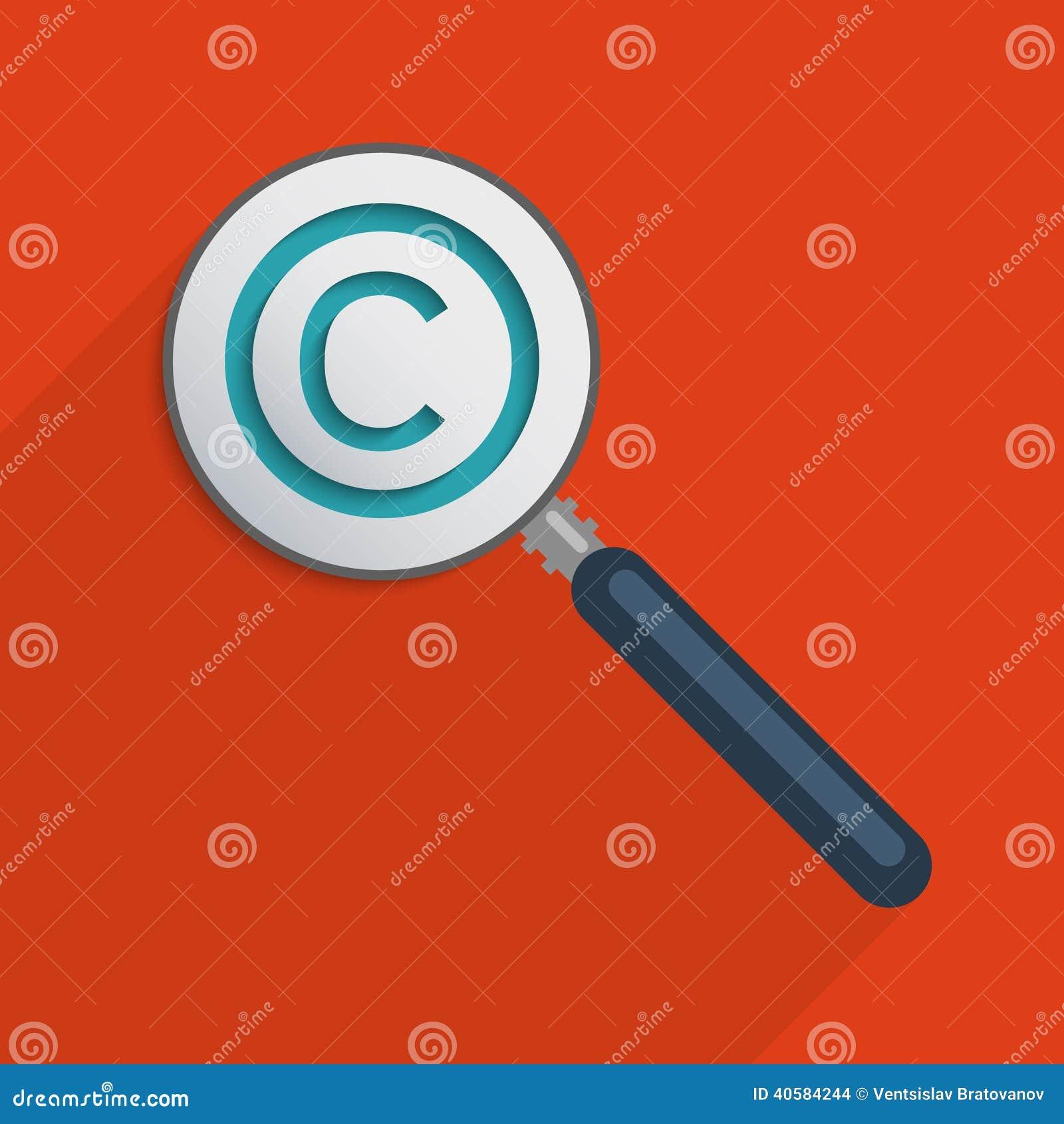 Intellectual Property Cartoon: Copyright Protection Design Flat Vector Illustration