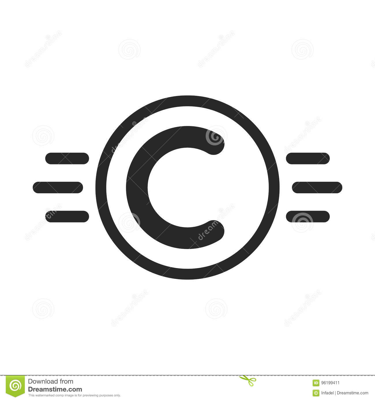 Copyright Symbol Like Intellectual Property Stock Vector