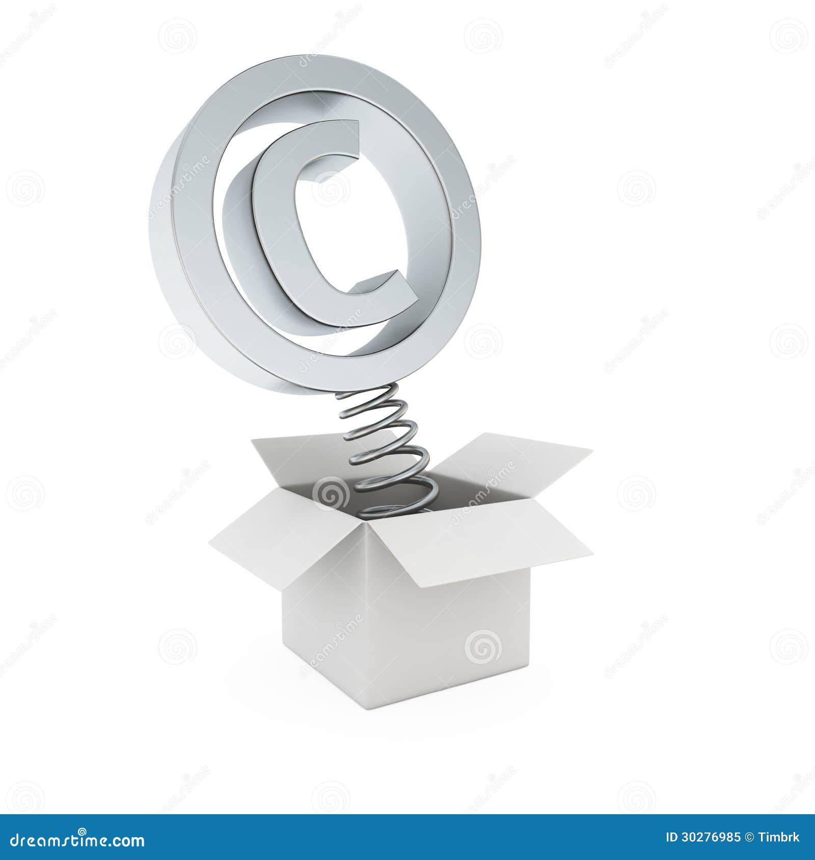 Copyright Symbol In The Gift Box Stock Illustration Illustration