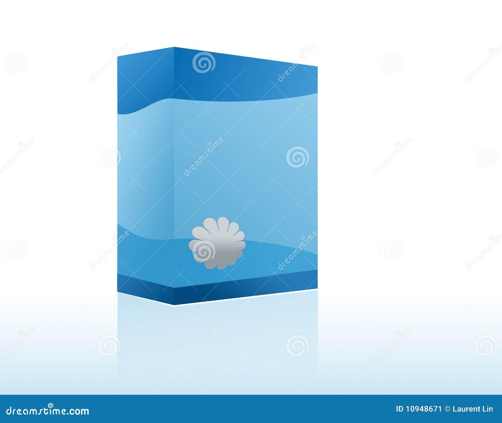 Copyspace голубой коробки
